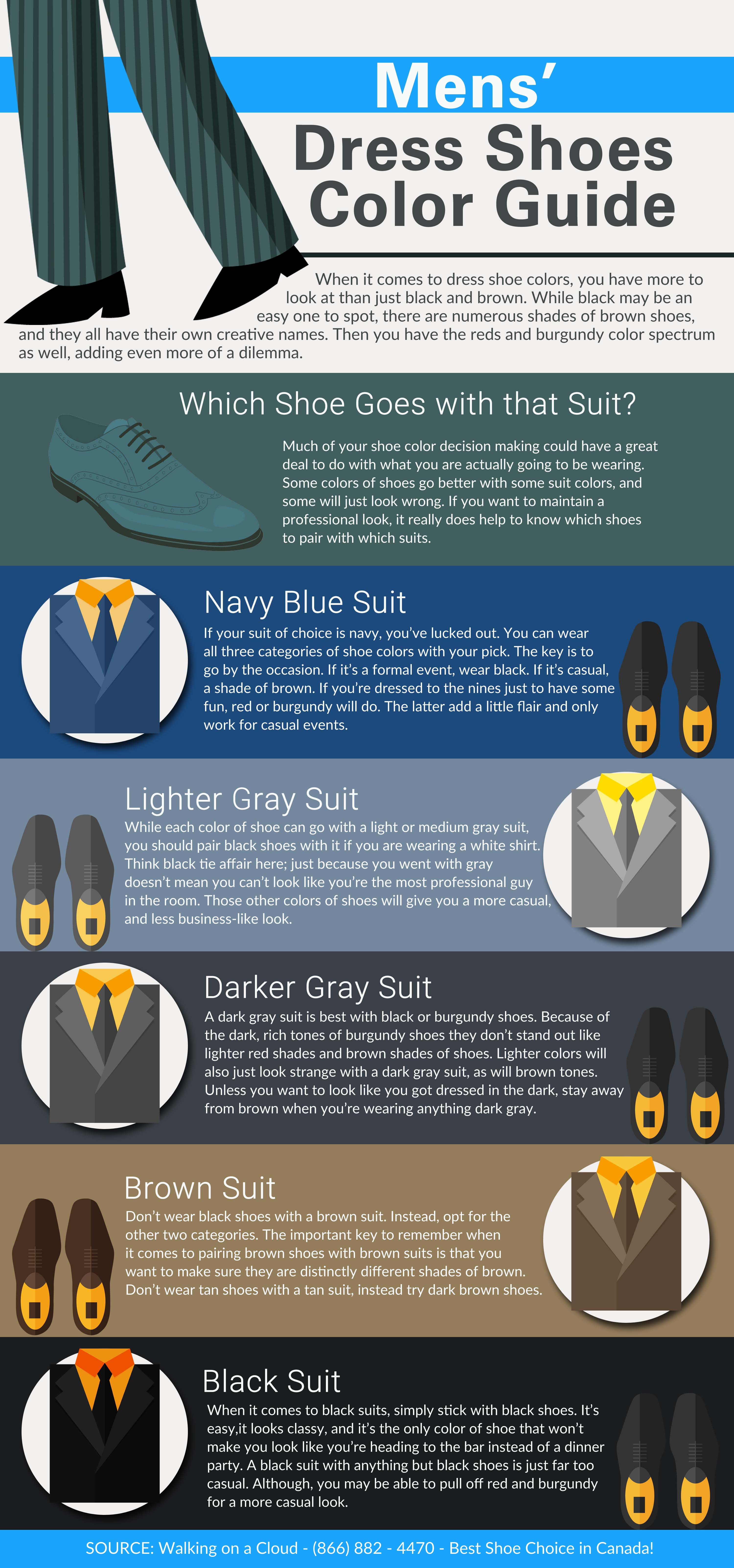 9839e7cb407a Mens  Dress Shoes Color Guide  infographic  -