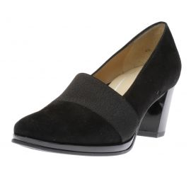 Odette Black Suede Pump