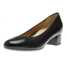 Vivian Black Leather Pump