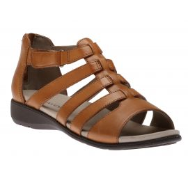 Abbey Tan Leather Gladiator Sandal