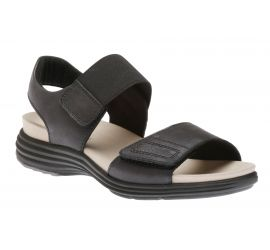 Beaumont Two Strap Black Sandal