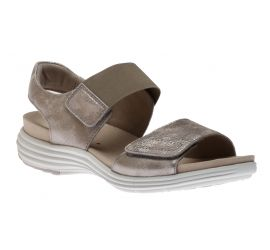 Beaumont Two Strap Metallic Sandal