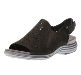 Beamont Black Peep Sling Sandal