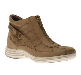 Beverly Brown Nubuck Waterproof Ankle Boot