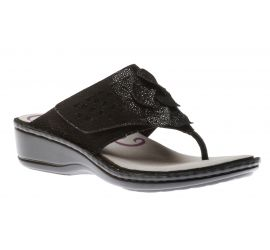 Cambridge Black Thong Sandal