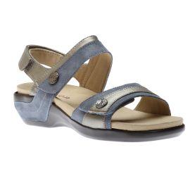 Katherine Blue/Metallic Sandal