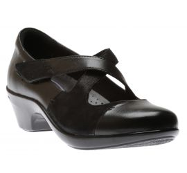 Kitt Cross Strap Black Low Heel
