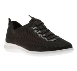 Power Comfort Mesh Bungee Black Knit Sneaker