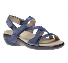 Power Comfort Strap Blue Leather Sandal
