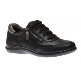 Power Comfort Tie Lace-Up Black Sneaker
