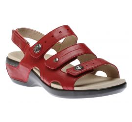 Power Comfort Three Strap Rio Red/Leather Sandal