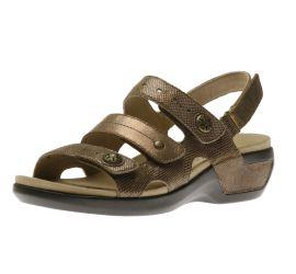 Power Comfort Three Strap Metallic Taupe Sandal