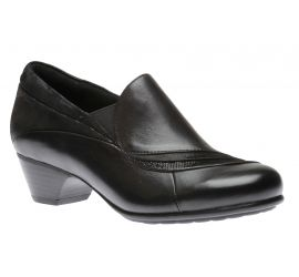 Provence Asym Black Leather Slip-On