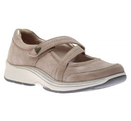 Pyper Cross Strap Taupe Mary Jane