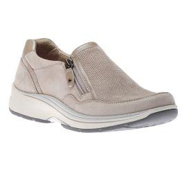 Pyper Side Zip Taupe Sneaker