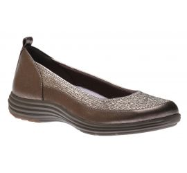 Quinn Pewter Leather Ballet Flat