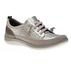 Wembly Lace-Up Silver Sneaker