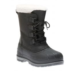 Canada Men's Black Lace-Up Winter Boot