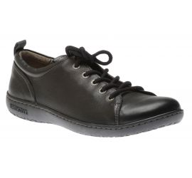 Islay Black Leather Lace-Up Sneaker