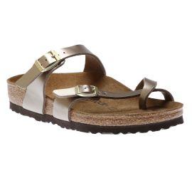 Mayari Birko-Flor Electric Metallic Taupe Sandal