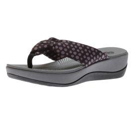 Arla Glison Black Grey Thong Sandal