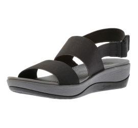 Arla Jacory Black Wedge Sandal