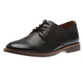 Atticus Lace Black Leather Lace-Up Oxford