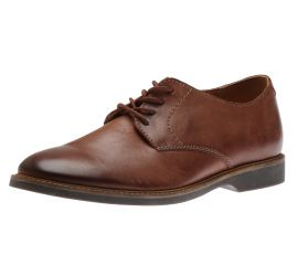 Atticus Lace Mahogany Leather Lace-Up Oxford
