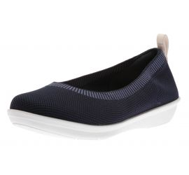 Ayla Paige Navy Slip-On Flat