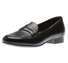 Un Blush Go Black Leather Penny Loafer