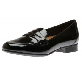 Un Blush Go Black Patent Leather Penny Loafer