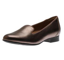 Un Blush Step Pebble Metallic Leather Loafer