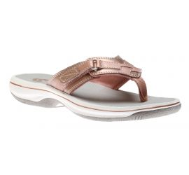 Breeze Sea Rose Gold Thong Sandal