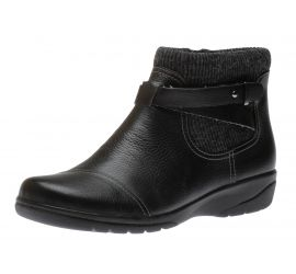 Cheyn Kisha Black Leather Ankle Boot
