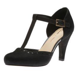 Dalia Leah Black T-Strap Heel