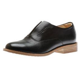 Edenvale Opal Black Leather Oxford