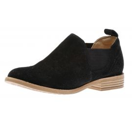 Edenvale Paige Black Suede Low-Cut Boot