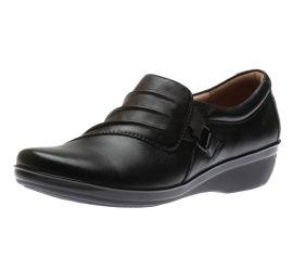 Everlay Heidi Black Leather Slip-On
