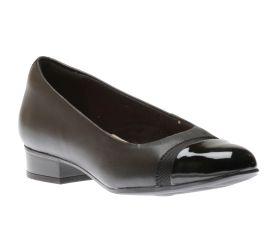 Juliet Monte Black Leather Slip-On