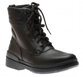 Kimball Rise Black Leather Lace-Up Winter Boot