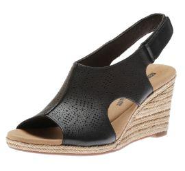 Lafley Rosen Black Espadrille Wedge Sandal