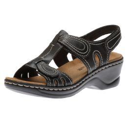Lexi Walnut Q Black Sandal