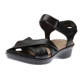 Loomis Chloe Black Leather Sandal
