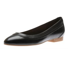 Loriann Jeni Black Leather Ballet Flat
