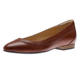 Loriann Jeni Mahogany Leather Ballet Flat