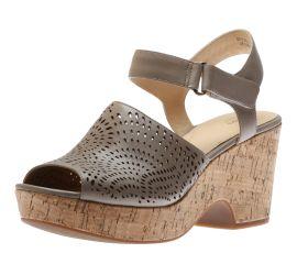 Maritsa Nila Perforated Sand Leather Wedge Sandal