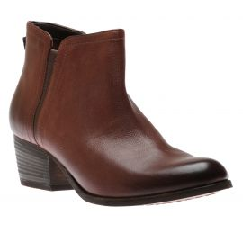Maypearl Ramie Mahogany Leather Ankle Boot