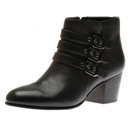 Maypearl Rayna Black Leather Ankle Boot