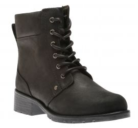 Orinoco Spice Black Leather Lace-Up Boots