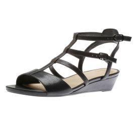 Parram Spice Black Nubuck Gladiator Wedge Sandal